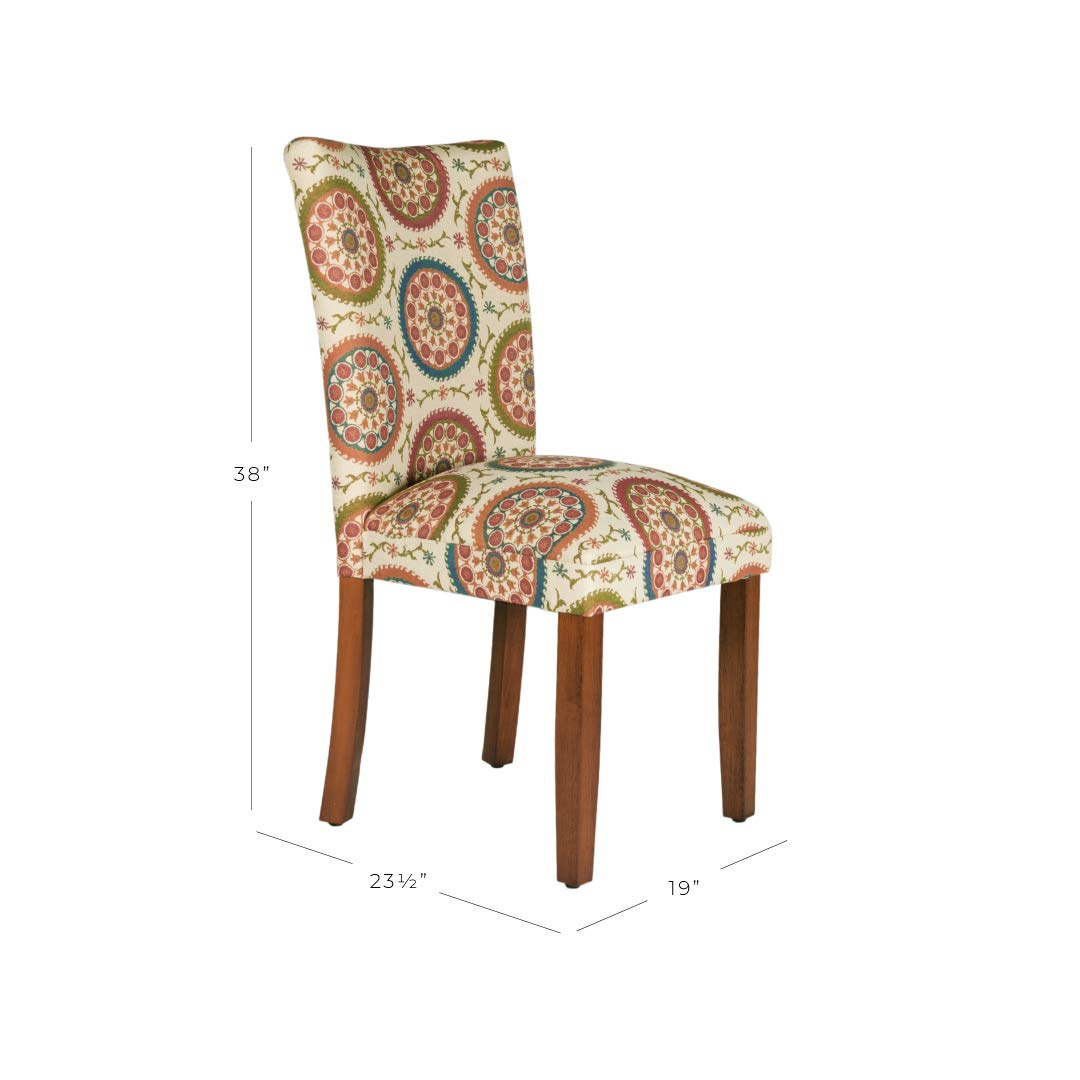 HomePop Parsons Upholstered Accent Dining Chair, Set Of 2