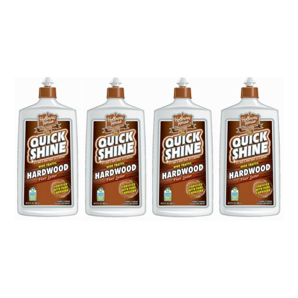 Quick Shine High Traffic Hardwood Floor Luster and Polish, 27 Fl. Oz. (4 Pack)