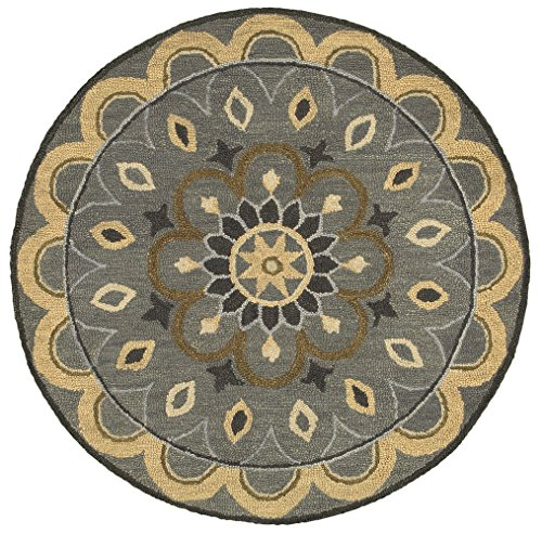 LR Resources DAZZL54055GRY40RD Area Dazzle LR54055-GRY40RD Gray X 4 ft Plush Indoor Round Rugs, 4' x 4' ()