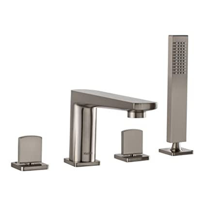Deck Mount Bathtub Faucet.Maykke Adalbert Deck Mount Bathtub Faucet With Hand Shower