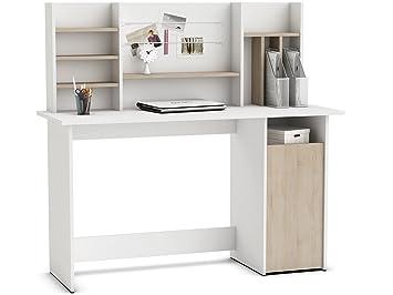 Schreibtisch Mit Aufsatz Arbeitstisch Bürotisch Laptoptisch Pc Tisch