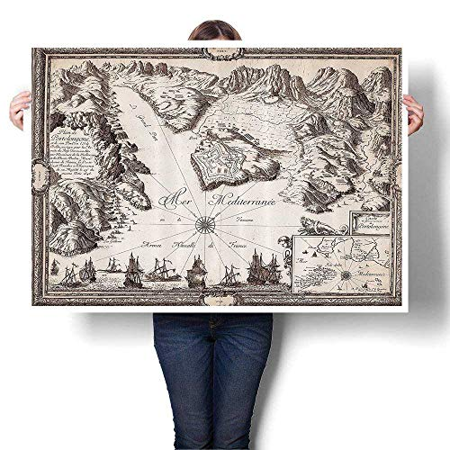 d Map Warships Countries Kingdoms Locatis Geographical on Canvas Wall Art for Bedroom Home Decorations,20