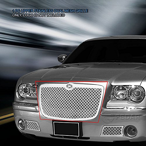 (Fedar Main Upper Dual Weave Mesh Grille for compatible with 2005-2010 Chrysler 300/300C)