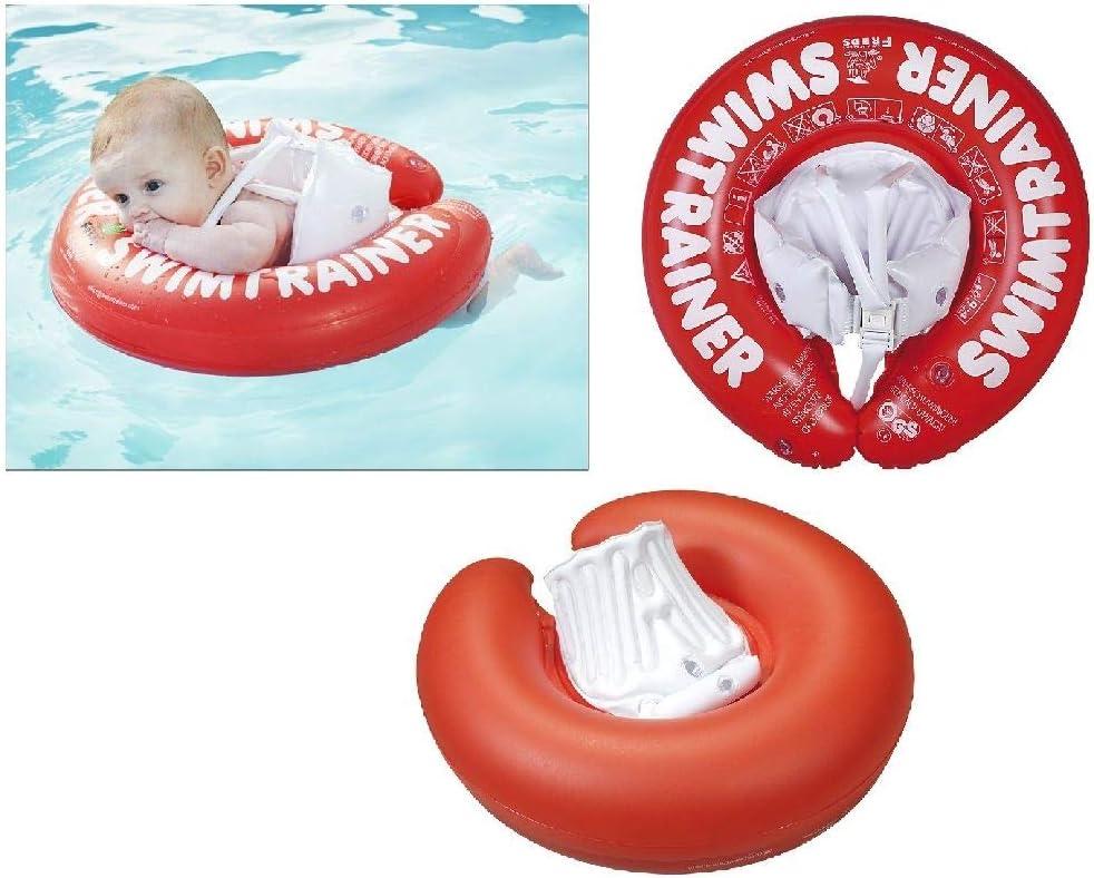 Fred's Swim Academy - Flotador de aprendizaje de natación para niños, color rojo