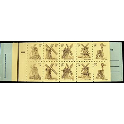 Windmills Twenty 15 Cent Stamps Scott 1742b Booklet of Two Panes: Everything Else