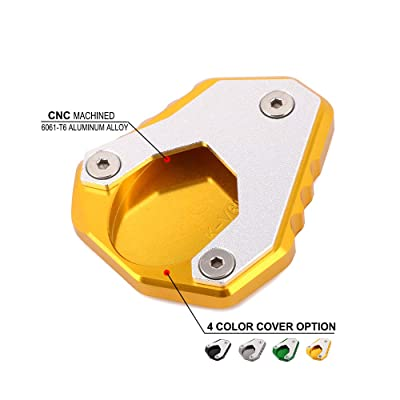 AnXin Motorcycle CNC Kickstand Foot Side Stand Extension Pad Support Plate For KAWASAKI Versys 650 VERSYS650 2015 2016 2020 2020 Street Bike - Gold: Automotive [5Bkhe1014475]