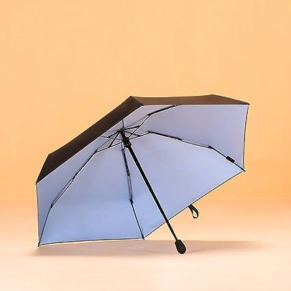 Paraguas de viaje plegable sombrilla doble capa Sunblock protección UV a prueba de viento compacto,