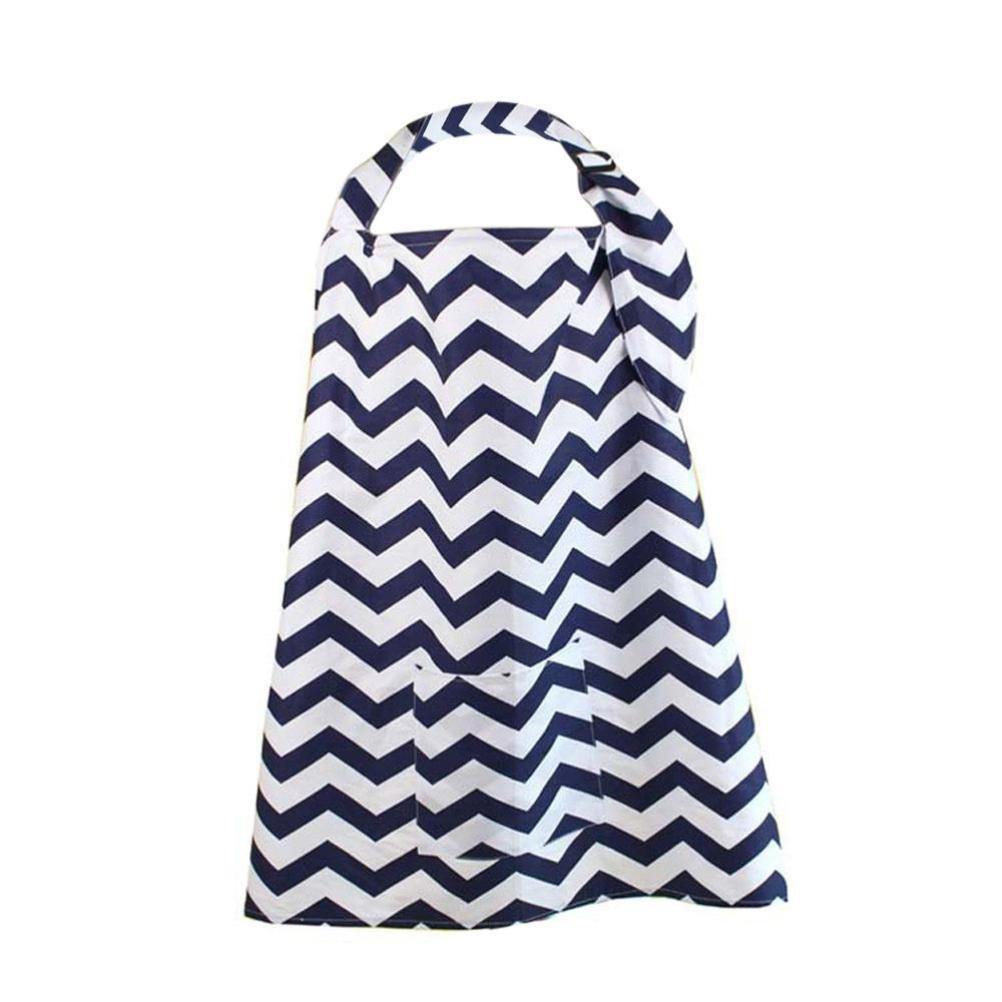 Cubierta de enfermer/ía lactancia materna bufanda QinMM algod/ón delantal materna con bolsa de almacenamiento port/átil y plegable para colecci/ón A