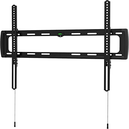 Promounts Apex Flat TV Wall Mount Bracket for 37-100 Flat Curved TVs Up to 143 lbs., VESA From 200×200 to 600×400 with Built-in Bubble Level, Post-Installation Level Adjustment, UF-PRO640 , Black