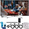 LG (65SJ8000) 65 Super UHD 4K HDR Smart LED TV (2017) w/ Sound Bar Bundle Includes, LG SJ8 300W 4.1ch Hi-Res WiFi Bluetooth Audio Sound Bar w/ Subwoofer, 3x HDMI Cable, LED TV Screen Cleaner + More