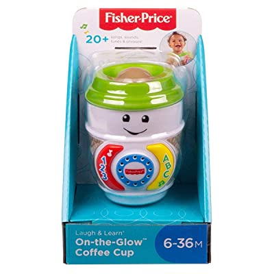 Fisher-Price GHJ04 Laugh & Learn On-The-Glow Coffee Cup, Interactive Baby Toy, Multicolour: Toys & Games
