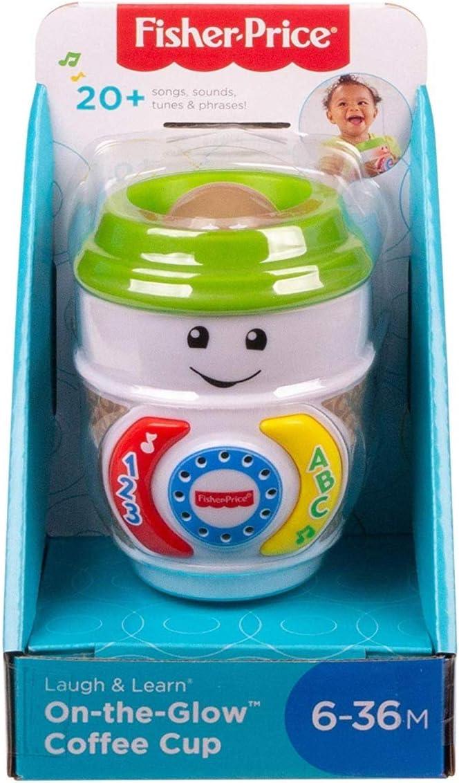 Fisher-Price Laugh & Learn On-The-Glow Taza de café, Juguete Interactivo para bebé, Multicolor (Mattel GHJ04): Amazon.es: Juguetes y juegos