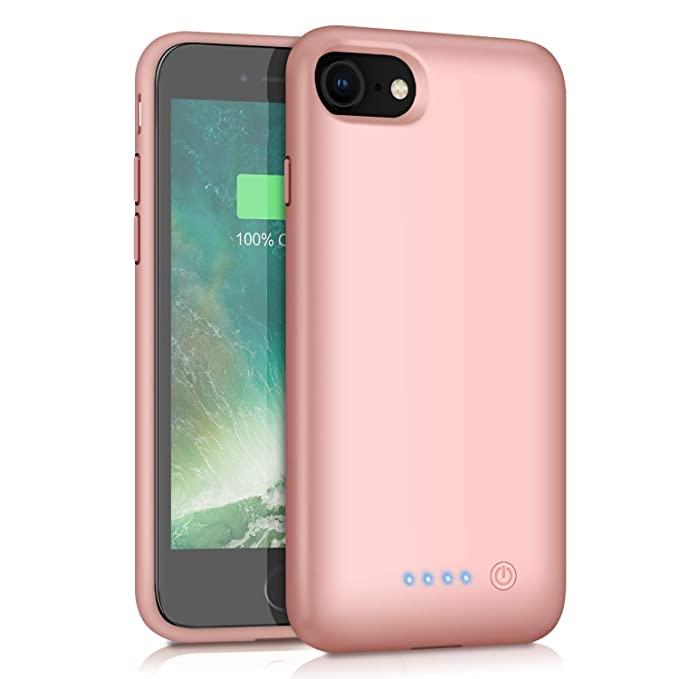 new product 29a74 808fb Battery Case for iPhone 8/7, HETP 6000mAh Portable Rechargeable Extended  Battery Pack for Apple iPhone 7 & iPhone 8 Charging Case Protective Backup  ...