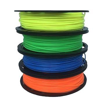 Shuzhen,Impresora 3D PLA 1.75mm 4 Paquete de Color 200 g para ...