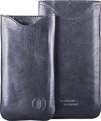 JT Berlin SlimFit Leder für Apple iPhone 6 / 6S in schwarz [Echtleder | Handarbeit | SlimFit Design] - 10025