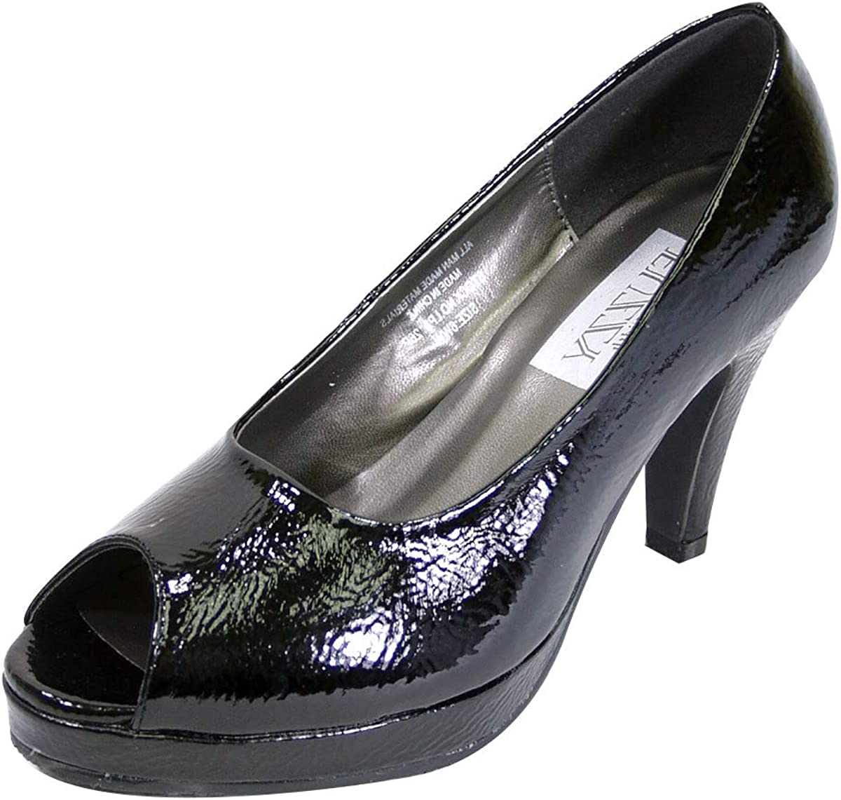 Peerage Ruth Women's Wide Width Leather Platform High Heel Pumps