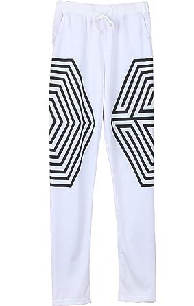 EXO K M Overdose Pants Xiumin KAI Chanyeol Luhan Concert Pants (S, White)