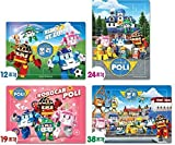 Robocar Poli Puzzle Bag (Play With Poli, 4 Puzzle Set)