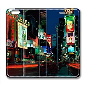City Night Landscape Custom Leather Cover for iPhone 6 Plus by Cases & Mousepads