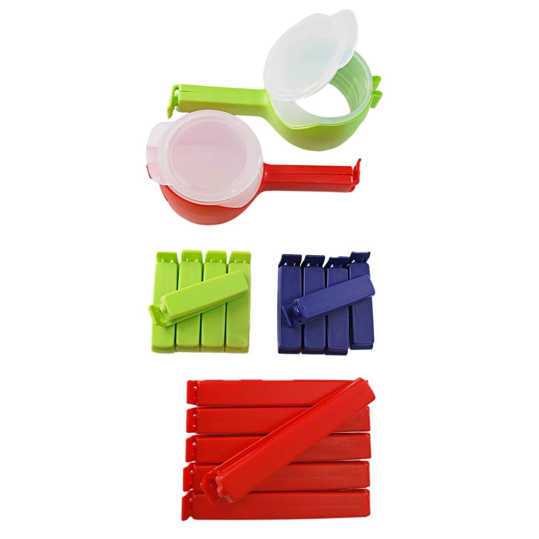 Bolsa de bolsa para pinzas de/de clip Juego de clip2friend con cierre giratorio 2 aussc Escurrir de clips y 16 bolsas de clips/Congelador Bolsa de cierre de ...