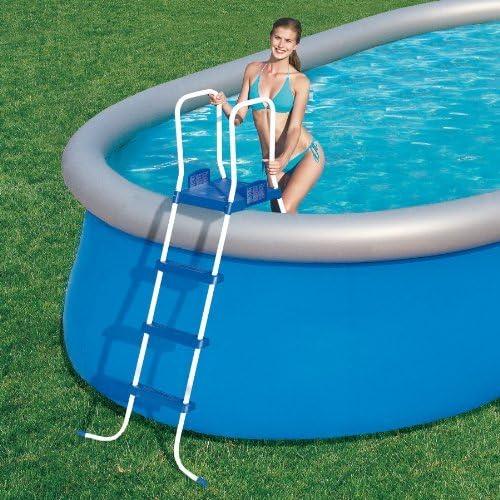 Bestway Escalera 3 peldaños de piscina plataforma-Tamaño: 122 cm: Amazon.es: Jardín