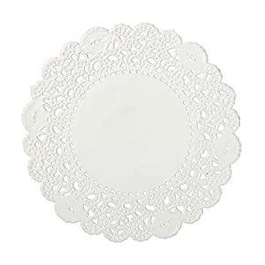 Royal 4 Inch Disposable Paper Lace Doilies, Package of 1000