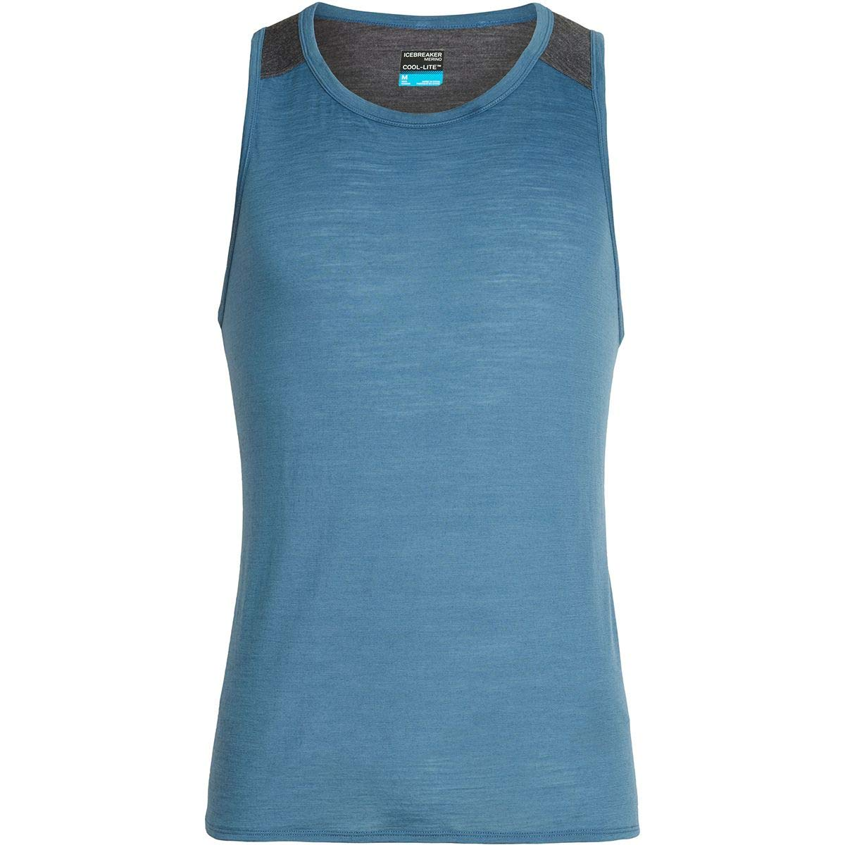 Icebreaker Amplify Tank Top - Men's Thunder/Panther Heather, M by Icebreaker