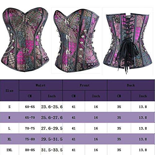 XL Plus Dress Leather Corsets Black 6XL Training Purple Waist AU Steampunk Corset Underbust 0002 Top Lace Sz Faux IIA Bustier Steampunk aCTFa8qxfw
