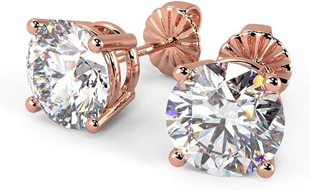 Aaaaa Quality Cubic Zirconia Cz Earrings 925 Sterling Silver Stud Earrings