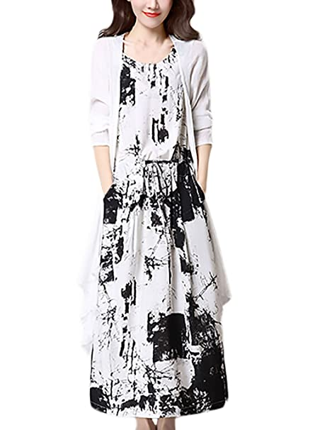 Lange kleider aus baumwolle