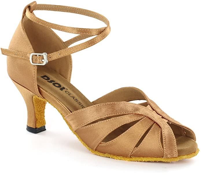 Retro Style Dance Shoes DSOL Womens Latin Dance Shoes DC271303/DC271308 $49.88 AT vintagedancer.com