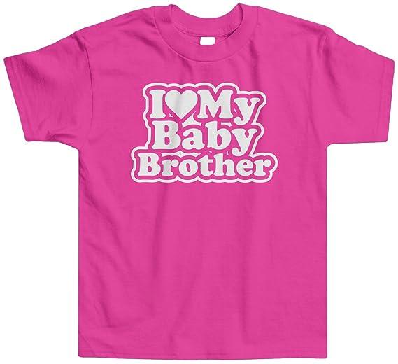 Amazoncom Threadrock Little Girls I Love My Baby Brother Toddler