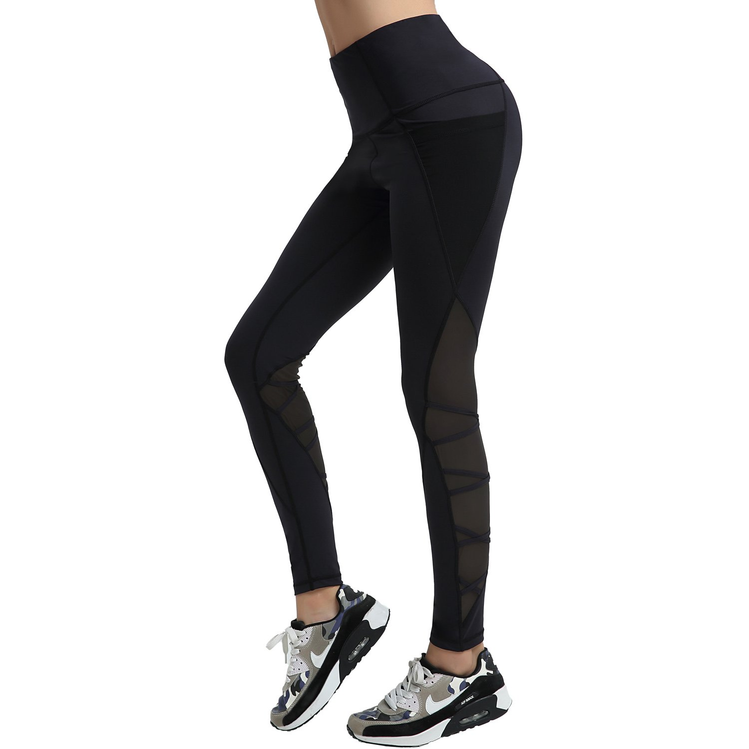 AIYIHAN Women Active Yoga Pants Running Sports Workout Leggings Hidden Pocket