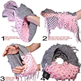 Basico-Women-Winter-Warm-Knit-Infinity-Scarf-Soft-Shawl-Various-Colors