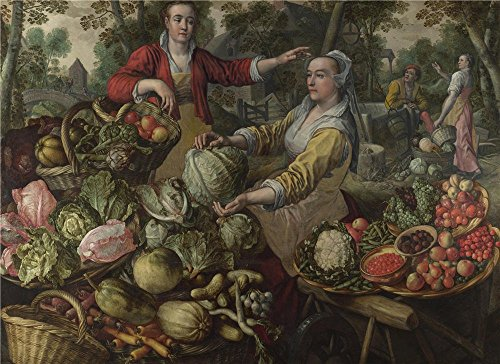 Oil Painting 'Joachim Beuckelaer The Four Elements Earth ' Printing On High Quality Polyster Canvas , 12 X 16 Inch / 30 X 42 Cm ,the Best Dining Room Decor And Home Decor And Gifts Is This High Quality Art Decorative Canvas Prints