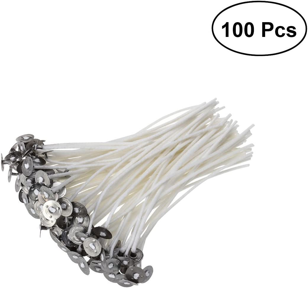 10/cm Rosenice 100/Pieces Candle Wicks with Foot for a Candle