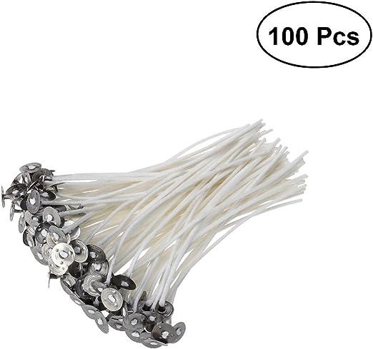 ULTNICE 100pcs Mechas de Vela mecha de algodón con pestañas para ...