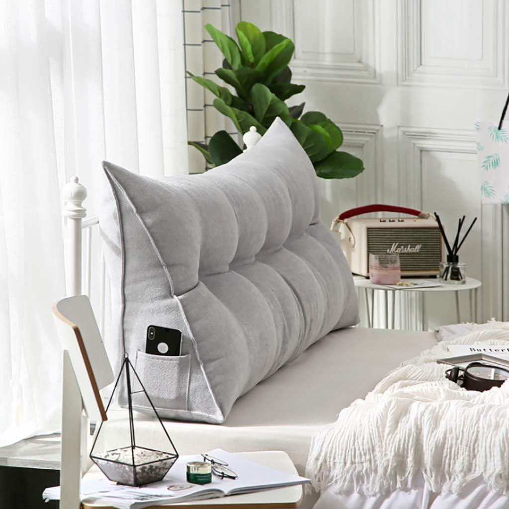 grand lit double taill Headboard bed back cushion coussin de lecture Coussin de lit de t/ête de lit oreiller de coussin de triangle de velours cor/éen Housse de protection pour canap/é arri/ère lavable