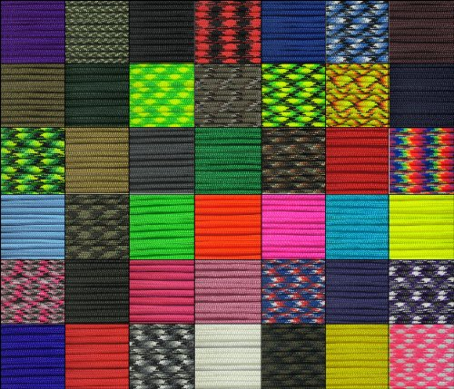 Paracord-Planet-100-Ft-Hanks-30-Meters-of-550lb-Para-Cord-7-Strand-4mm-Tactical-Parachute-Rope-in-Assorted-Colors