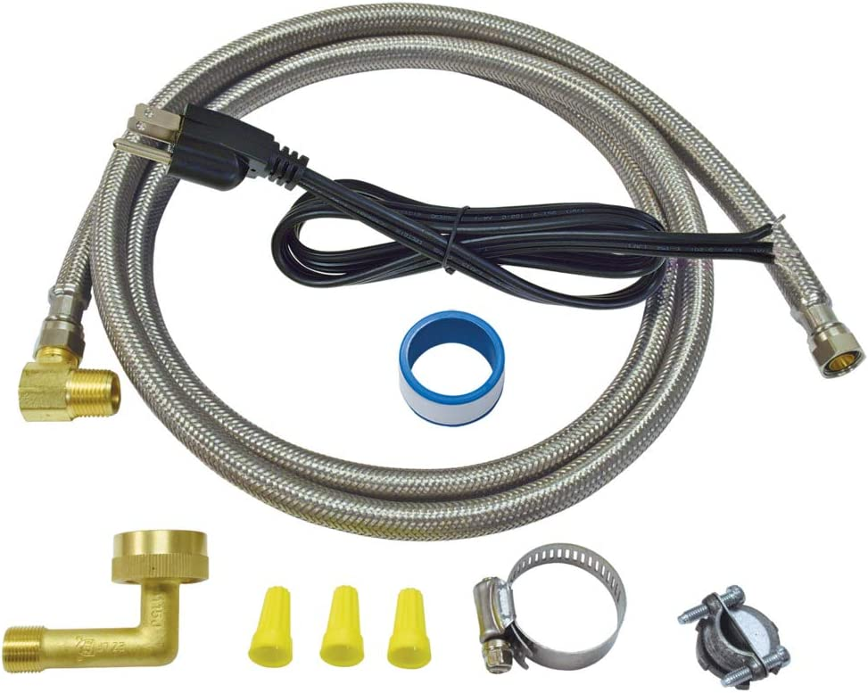 "Eastman, Silver, 41150 Dishwasher Installation Kit with Electrical Cord 3/8"" COMP, 6 Ft Length, 6 Feet"