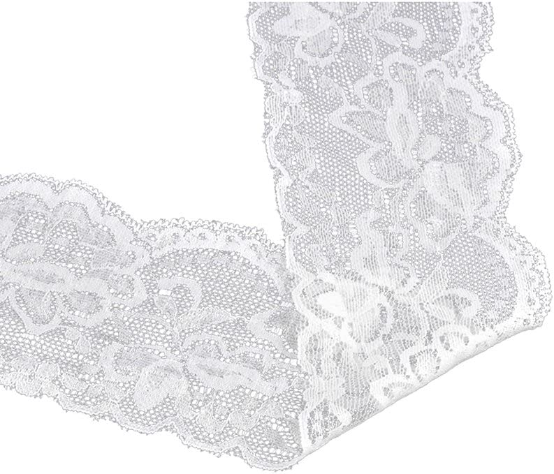 "Choice of Color 5 Yards 1//4 Inch Elastic Soft Stretch Lace Trim 3//8/"" 1//2/"""