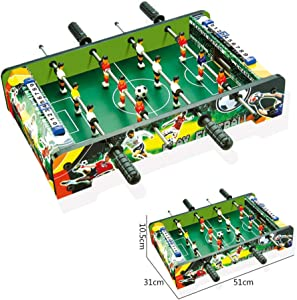 softneco Portable Foosball Table with ABS Handles,Mini Football Table for Kids,Fun Tabletop Soccer Game for Family Leisure Entertainment
