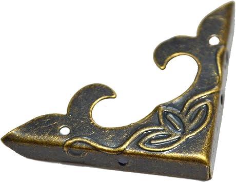 Antique Bronze Decor Jewelry Gift Box Corner Protector Guard Albums Edge Cover