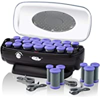 INFINITIPRO BY CONAIR Instant Heat Ceramic Flocked Rollers w/Ionic Generator, Retractable Cord Reel, 20 count