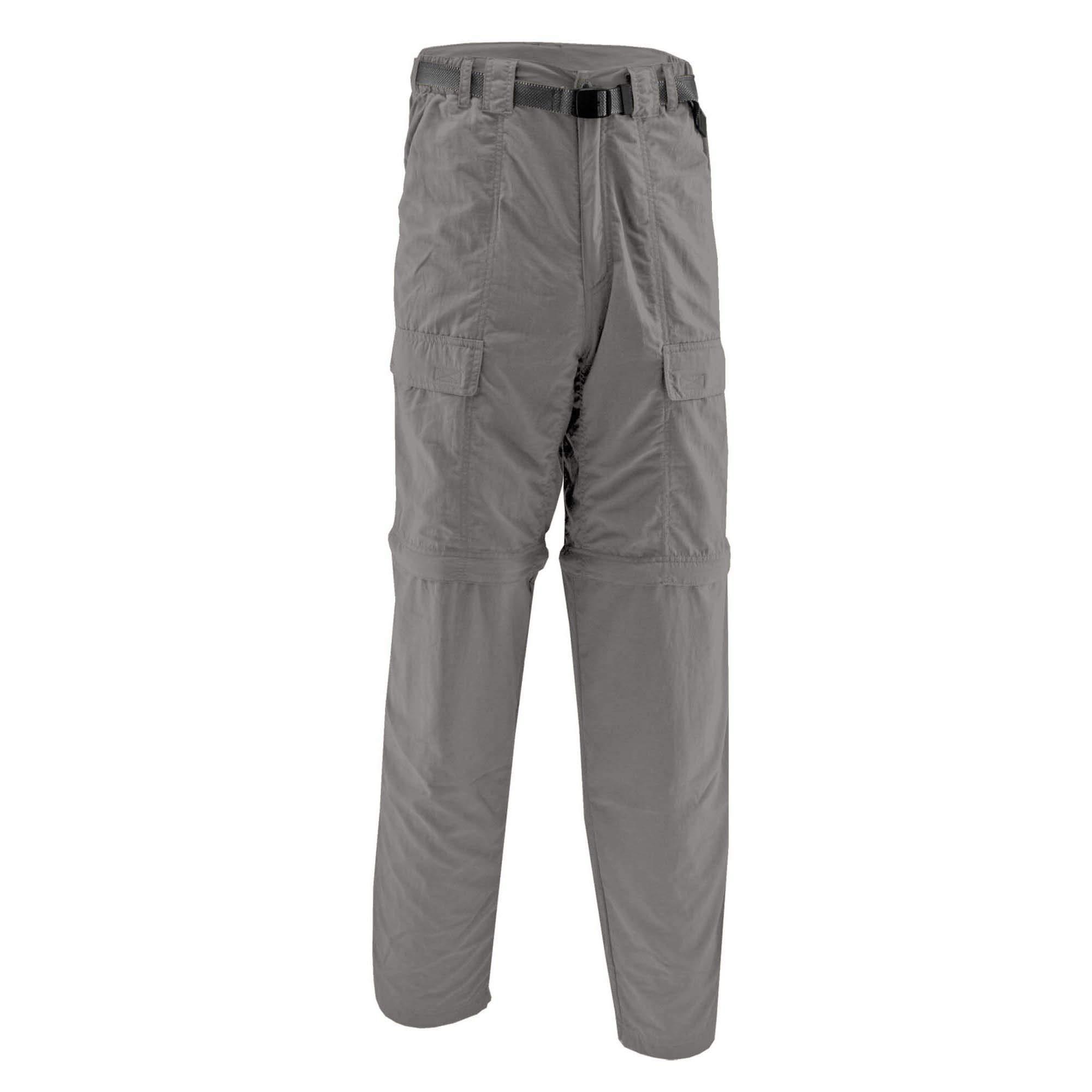 White Sierra Men's Trail Convertible Pant 30'' (Large, Brushed Nickel)