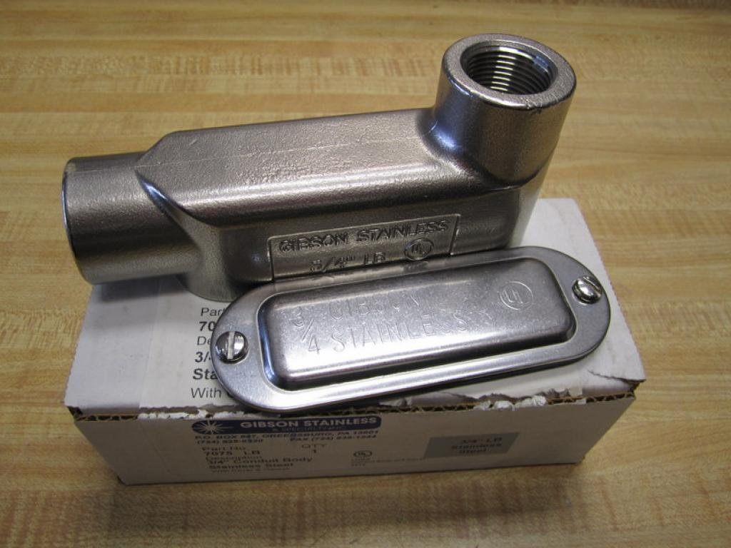 Gibson Stainless 7075 LB 3/4'' Conduit Body Stainless Steel 7075LB