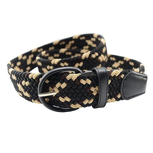 Corea Unisex Cinturones No Porosas Tejidas Cinturón Ancho Hebilla De Cinturón Elástico