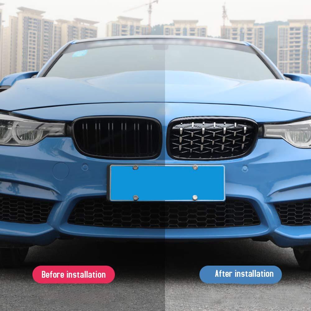 Griglia del rene frontale Nuova placca meteorologica adatta per BMW F30 328i 335i 2012-2016