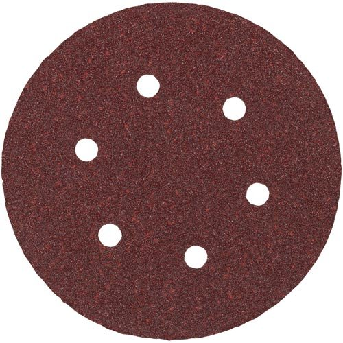 PORTER-CABLE 736601205 6-Inch H L AO 6 hole 120g Disc 5-pack