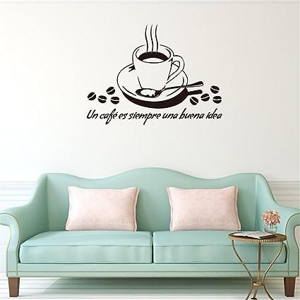 L-Peach Tazza di Caffè Adesivi Murali Adesivo da Pareti Muri in PVC ...